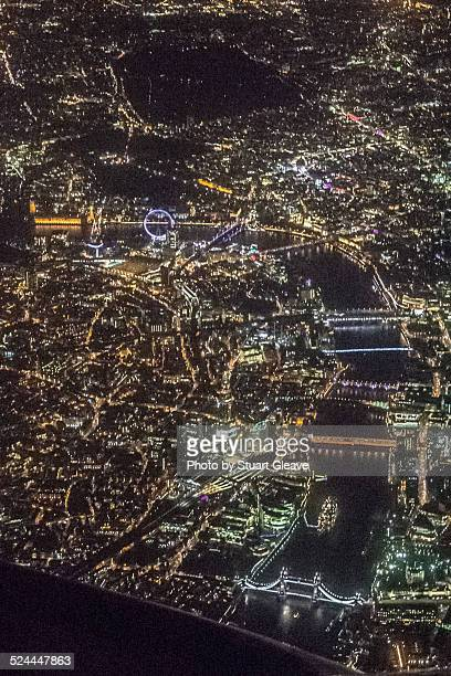 Central London at night (aerial view)