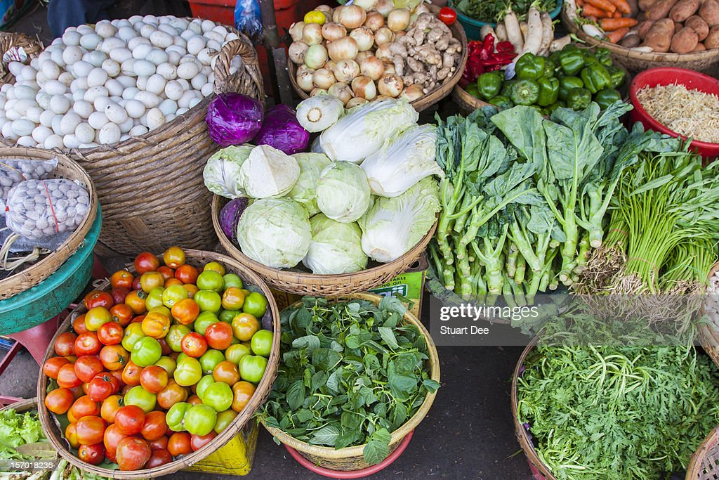 Central Market, Phnom Penh : Stock Photo