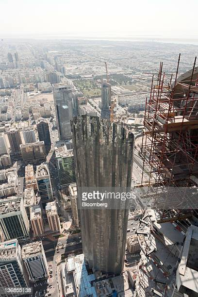 A Central Market tower an Aldar PJSC project is seen during construction in Abu Dhabi United Arab Emirates on Wednesday Jan 11 2012 Abu Dhabi the...
