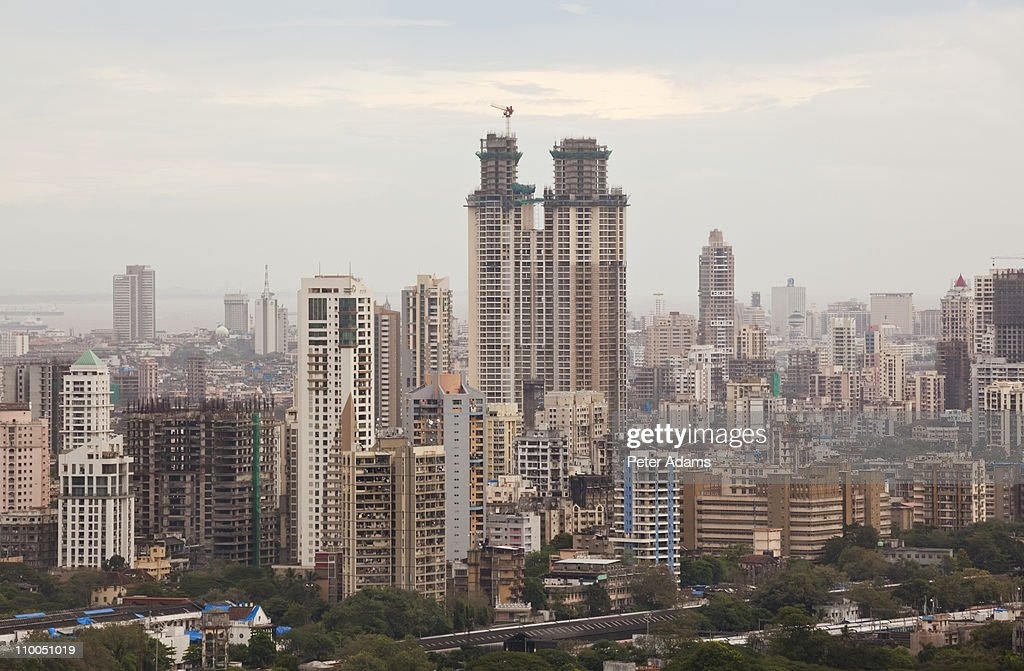 Central Mumbai (Bombay) skyline, India