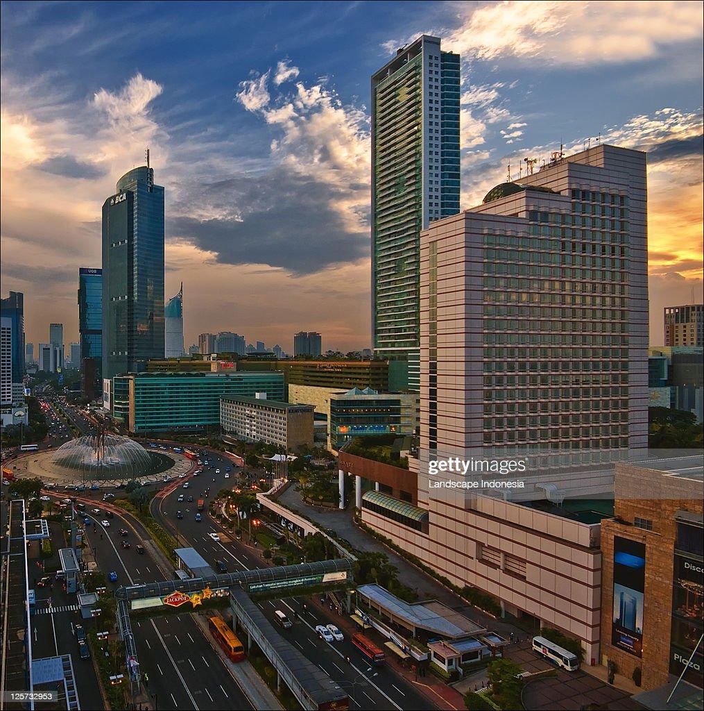 Central of Jakarta city : Stock Photo