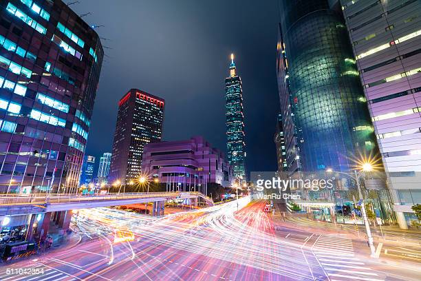 Central of Taipei at night, Taiwan