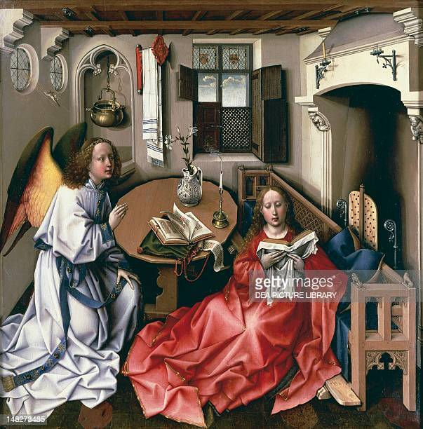 Central panel of the Annunciation Triptych by the Master of Flemalle identified as Robert Campin oil on panel New York The Metropolitan Museum Of Art