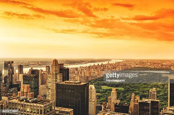 Central Park und manhattan, Luftaufnahme