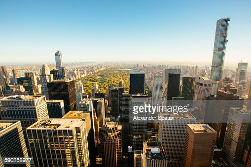 Central park and surrounding skyscrapers, New York
