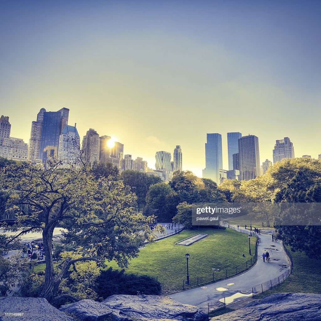 central park in new york during sunset stock photo getty images sunset park new york apartments sunset park new york new york