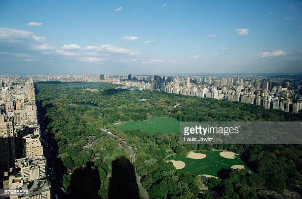 Central Park looking North East, New York City, New York, USA.