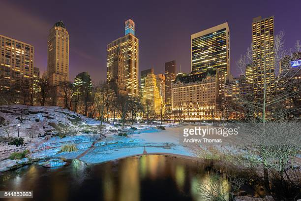 Central park snow covered