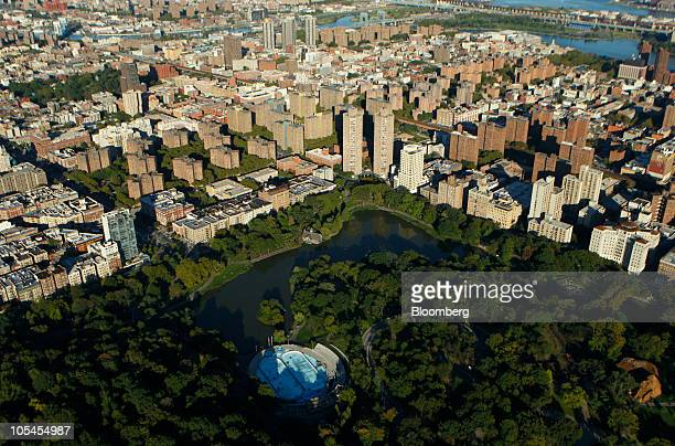 Central Park stands next to the Harlem neighborhood of Manhattan in this aerial photograph taken over New York US on Saturday Oct 2 2010 New York...
