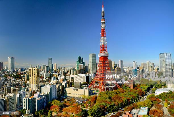 Central Tokyo cityscape at sunny day