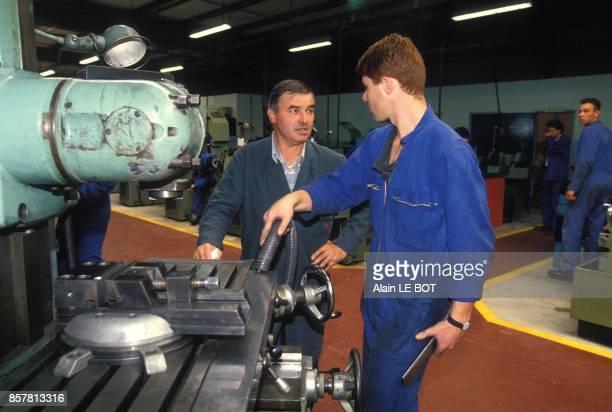 Centre de formation d'apprentis a Nantes ici formation a la mecanique industrielle le 16 septembre 1994 a Nantes France
