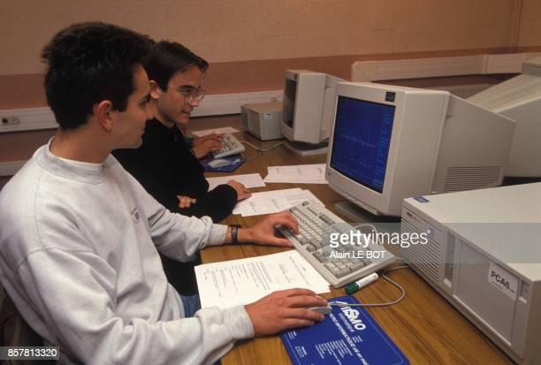 Centre de formation d'apprentis a Nantes ici laboratoire d'etude assistee par ordinateur en mecanique industrielle le 16 septembre 1994 a Nantes...