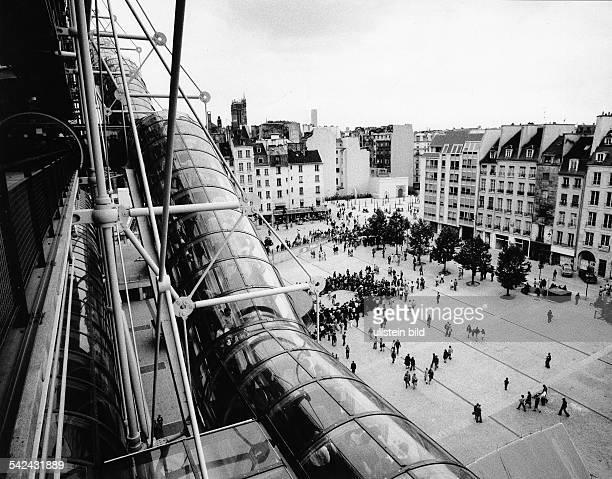 Centre National Georges Pompidou in Paris Frankreich 1978