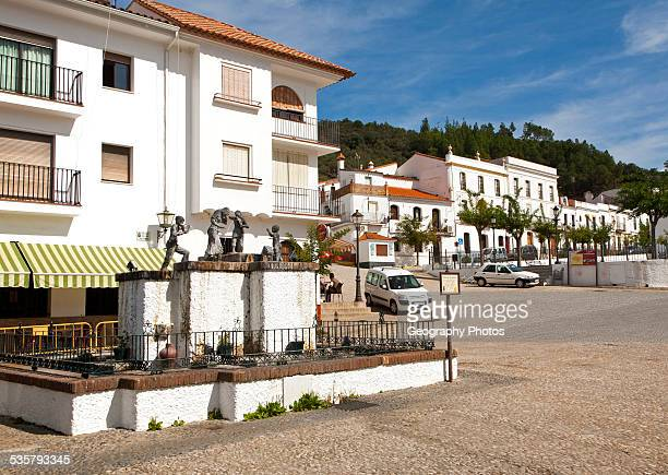 Centre of the village of Galaroza Sierra de Aracena Huelva province Spain