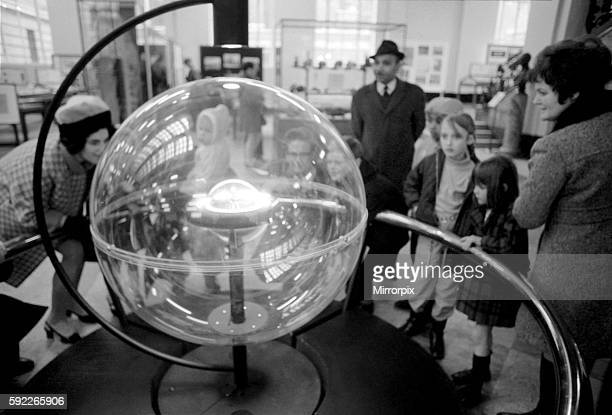 Centre piece of the exhibit is one of six special display units prepared by the National Aeronautics and Space Administration Washington for world...