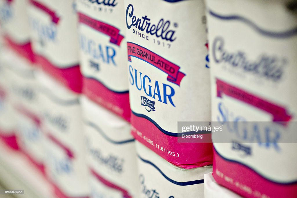 Centrella brand sugar, a private label of Central Grocers Inc., sits on display at a supermarket in Princeton, Illinois, U.S., on Tuesday, June 4, 2013. The Food and Agriculture Organization of the United Nations will release its monthly food price index on June 6. The index, a measure of the monthly change in international prices of a basket of food commodities, consists of the average of five commodity group price indices including meat, dairy, grains, oil and sugar. Photographer: Daniel Acker/Bloomberg via Getty Images