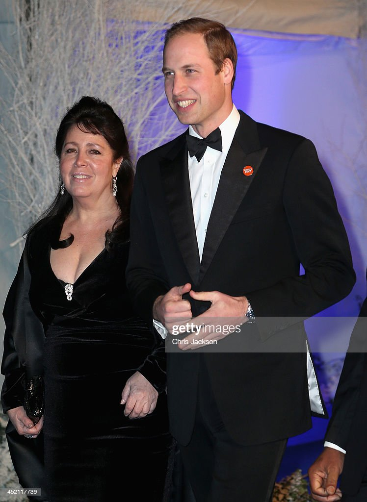 Centrepoint Board of Trustee Danielle Alexandra and Prince William, Duke of Cambridge arrives at Kensington Palace for the Centrepoint Winter Whites Gala on November 26, 2013 in London, England.