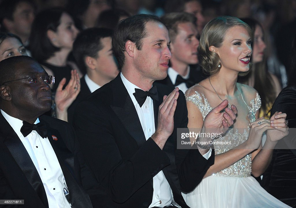 Centrepoint Chief Executive Seyi Obakin, Centrepoint Chief Executive , Prince William, Duke of Cambridge and Taylor Swift attend the Winter Whites Gala In Aid Of Centrepoint on November 26, 2013 in London, England.
