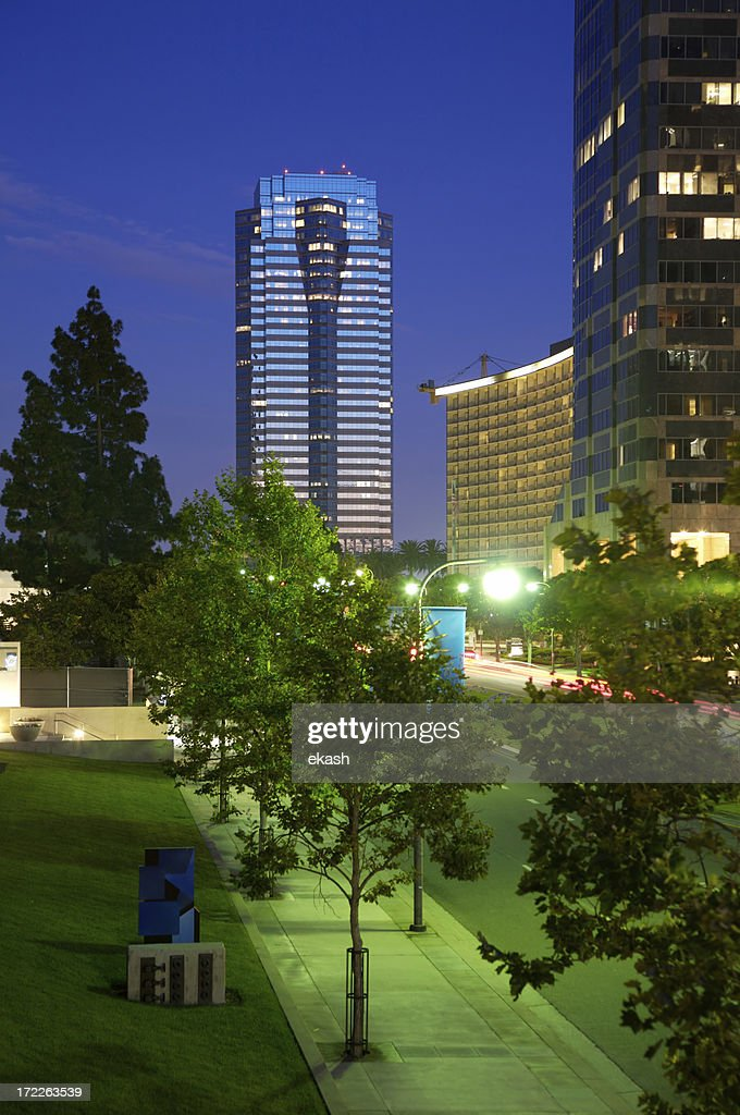 Century City at night