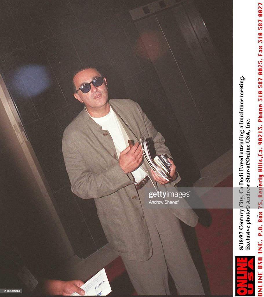 Century City, Ca Dodi Fayed Attending A Lunchtime Meeting. Exclusive