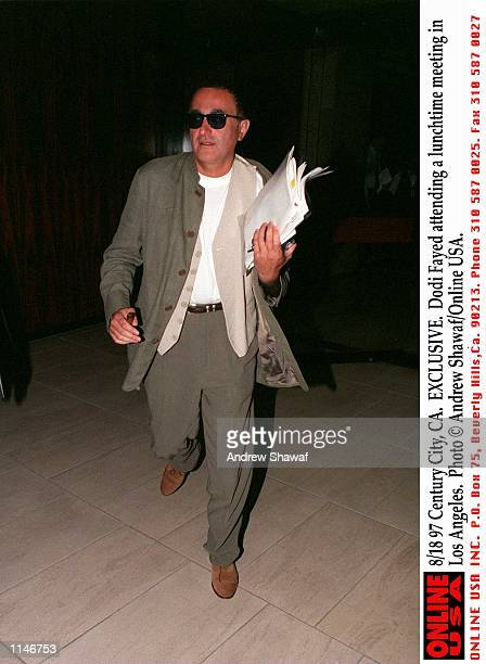 Century City CA EXCLUSIVE Dodi Fayed attending a lunchtime meeting in Los Angeles