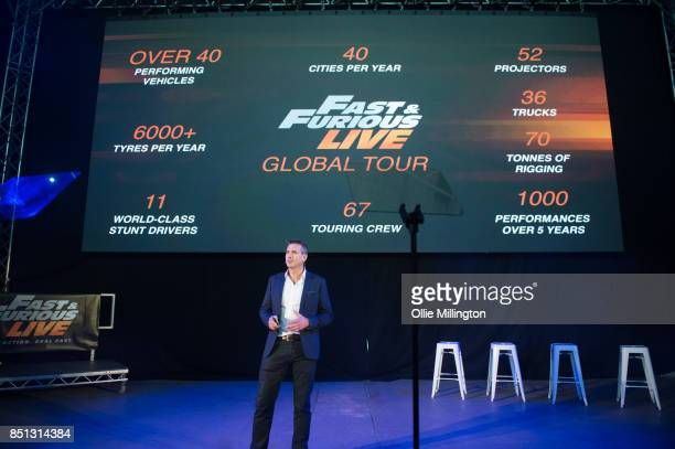 Ceo and Executive Producer of Fast Furious Live James CookPriest seen during the 'Fast Furious Live' media launch day event on September 21 2017 at...