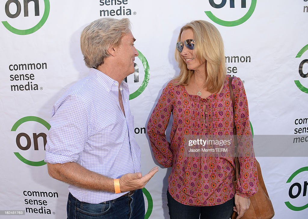 Ceo Jim Steyer of Common Sense Media and actress Lisa Kudrow attend the 2nd Annual GameOn! fundraiser hosted by Common Sense Media at Sony Pictures Studios on September 29, 2013 in Culver City, California.