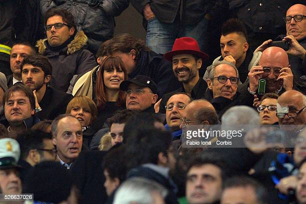 Ceo of AC Milan Barbara Berlusconi and Adriano Galliani look on during the Serie A match between FC Internazionale Milano and AC Milan at San Siro...