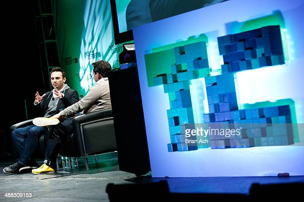 Ceo of Oculus Vr brendan iribe and Matthew Panzarino speak at TechCrunch Disrupt NY 2014 Day 1 on May 5 2014 in New York City