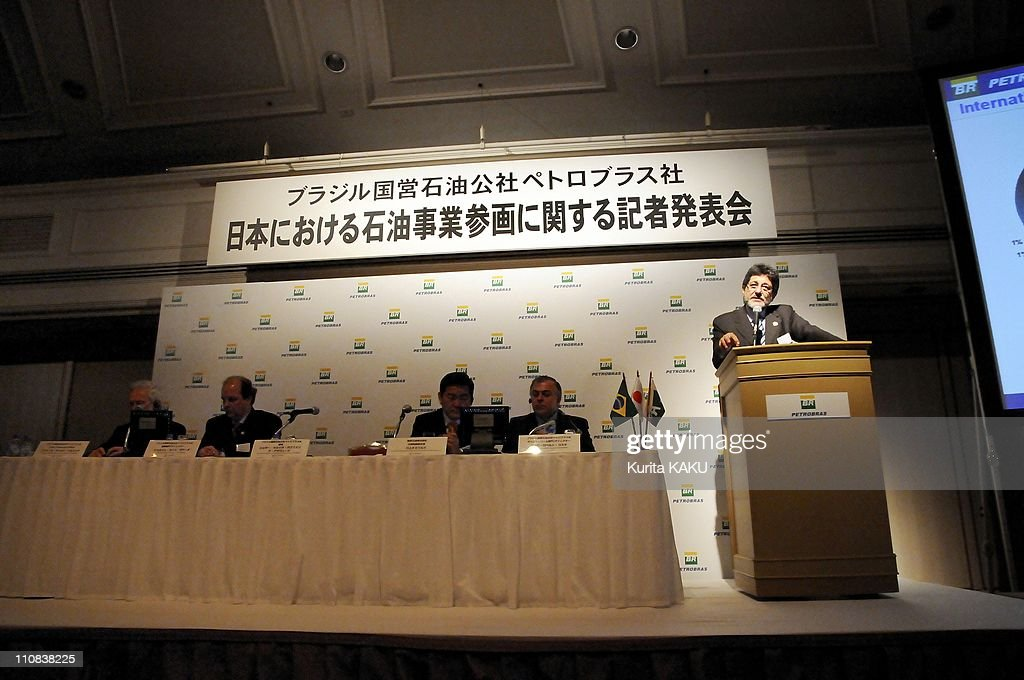 Ceo Of Petrobras Announces New Investments In Petroleum Business In Japan In Tokyo Japan On April 07 2008 Jose Sergio Gabrielli de Azevedo President...