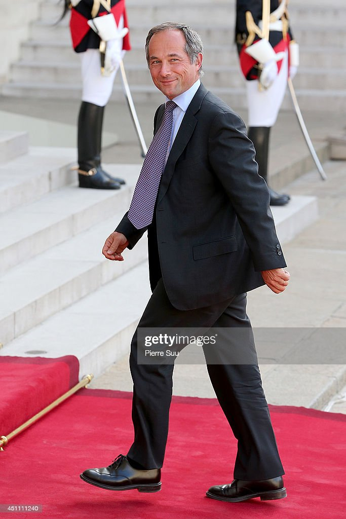 C.e.o of 'Societe Generale' bank Frederic Oudea attends State Dinner In Honor Of Sheikh Tamim Bin Hamad Al-Thani, Emir of Qatar at Elysee Palace on June 23, 2014 in Paris, France.