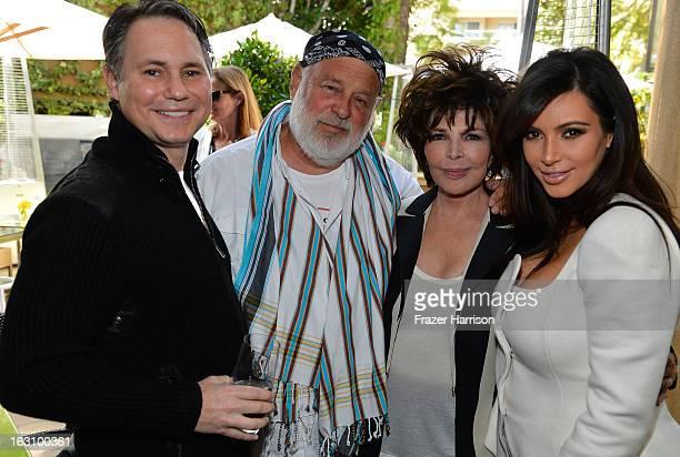 CEO/Founder DuJour Jason Binn photographer Bruce Weber singer/songwriter Carole Bayer Sager attend Kim Kardashian attend DuJour magazine's Spring...