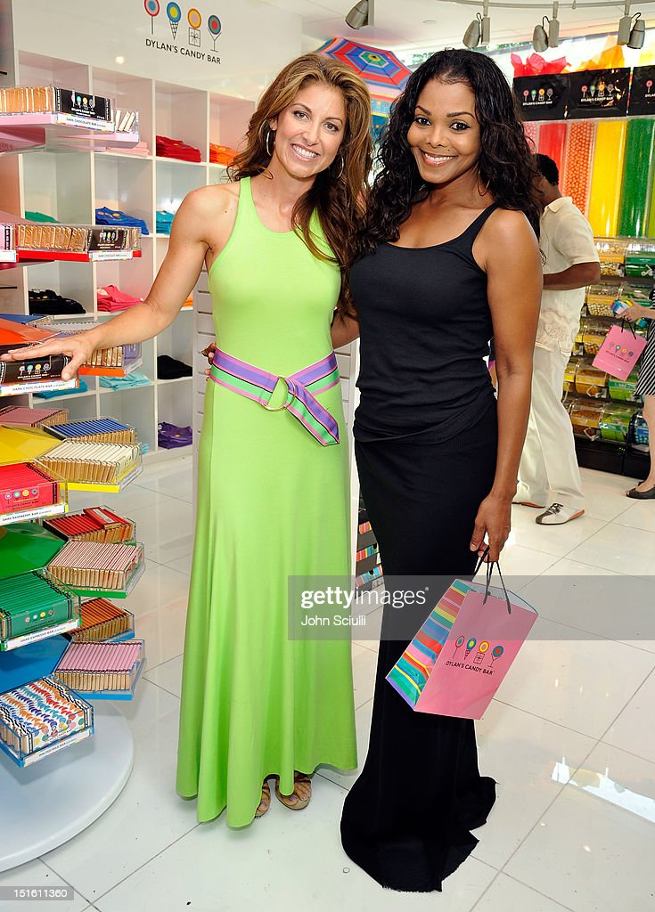 Founder Dylan Lauren and Janet Jackson attend the Dylan's Candy Bar Los Angeles Opening at Original Farmers Market on September 8, 2012 in Los Angeles, California.