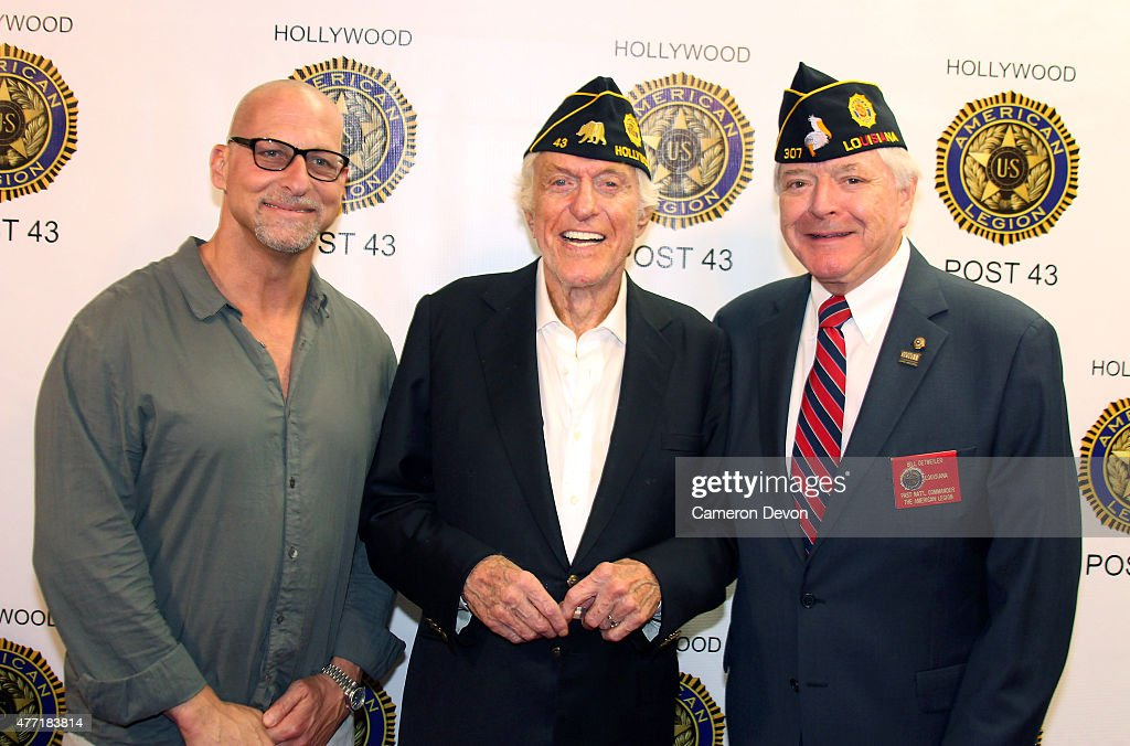 CEO/Founder of Cliffside Malibu AddictionTreatment Center Richard Taite Actor Dick Van Dyke and Past National Commander Bill Detweiller attend the...