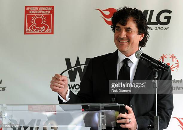President Big Machine Label Group Scott Borchetta during A Very Special Christmas 25th Anniversary Unveil at Blackbird Studio on August 6 2012 in...