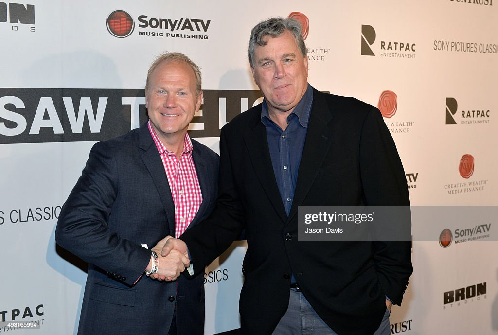 Sony/ATV Music Publishing's Troy Tomlinson and Co-President Sony Pictures Classics' Tom Bernard arrive at the 'I Saw The Light' Nashville Premier at The Belcourt Theatre on October 17, 2015 in Nashville, Tennessee.