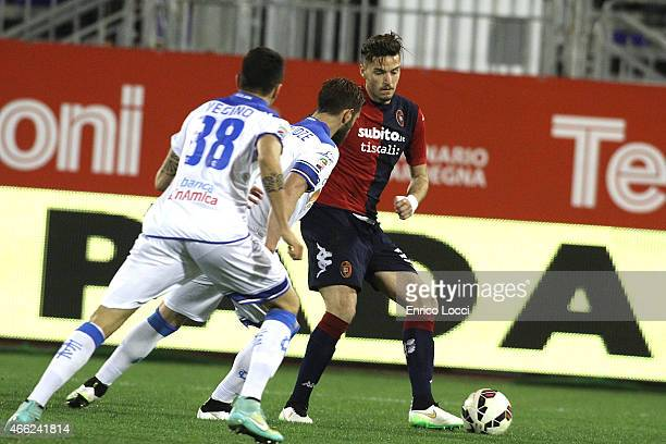 Ceppitelli Luca of Cagliari in action during the Serie A match between Cagliari Calcio and Empoli FC at Stadio Sant'Elia on March 14 2015 in Cagliari...