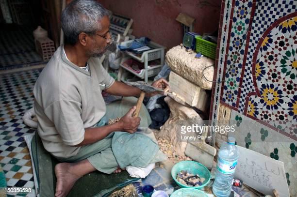 Ceramic artist at work, Andalous.