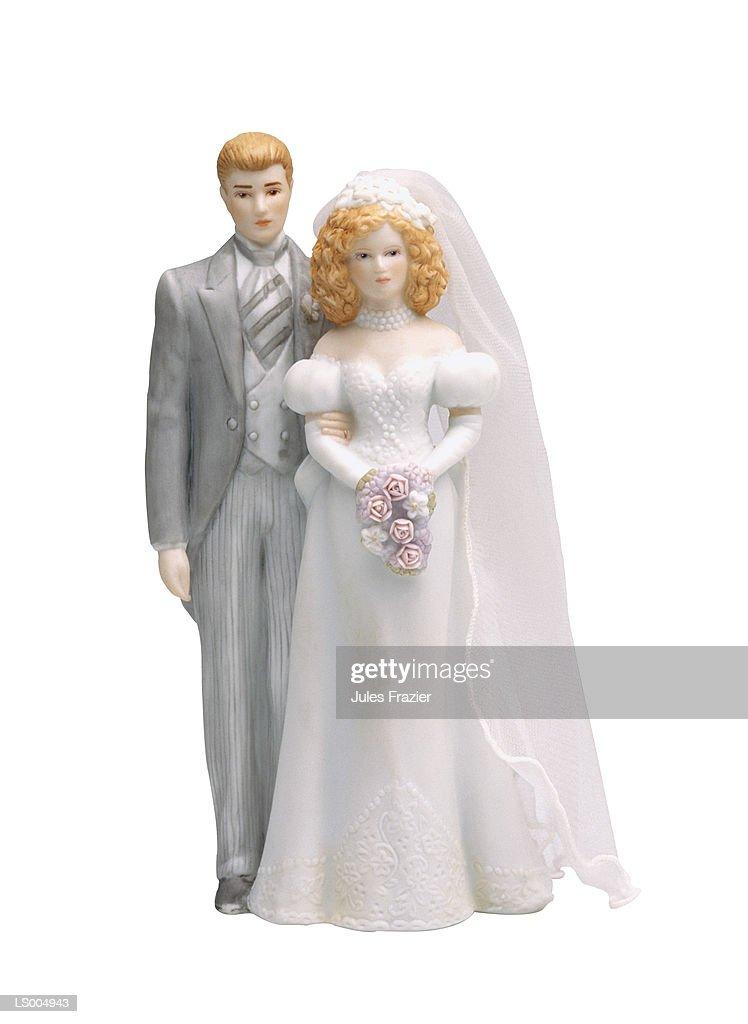 Ceramic Bride and Groom Figurines : Stock Photo
