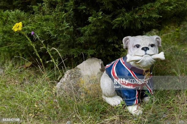 Ceramic Bull Dog in British Flag Waistcoat