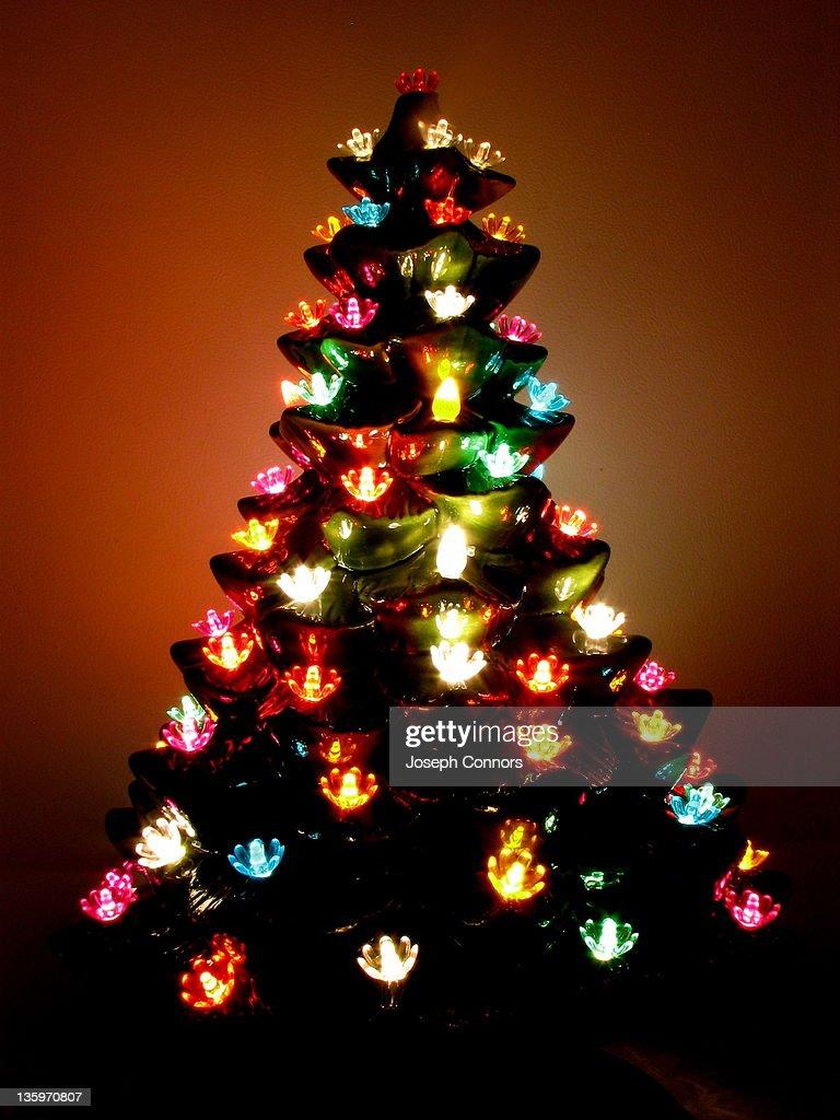 ceramic christmas tree stock photo - Ceramic Christmas Lights