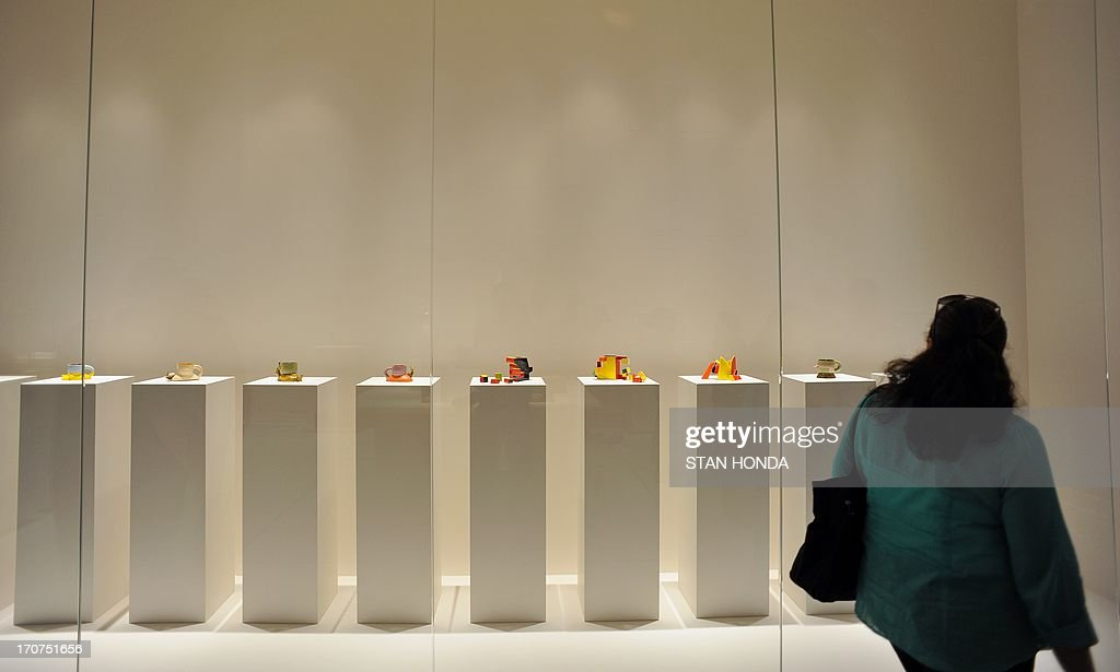 Ceramic pieces by artist Ken Price during a preview of 'Ken Price Sculpture: A Retrospective' June 17, 2003 at the Metropolitan Museum of Art in New York. AFP PHOTO/Stan HONDA