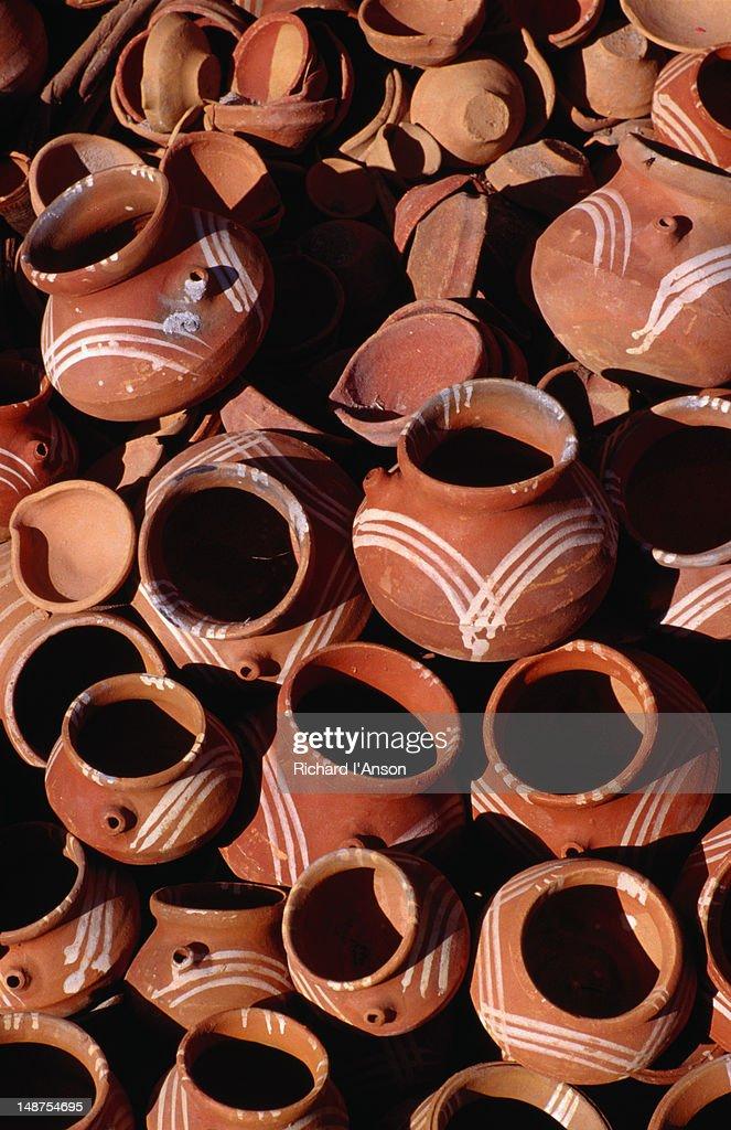 Ceramic Pots For Sale Part - 30: Ceramic Pots For Sale. : Stock Photo