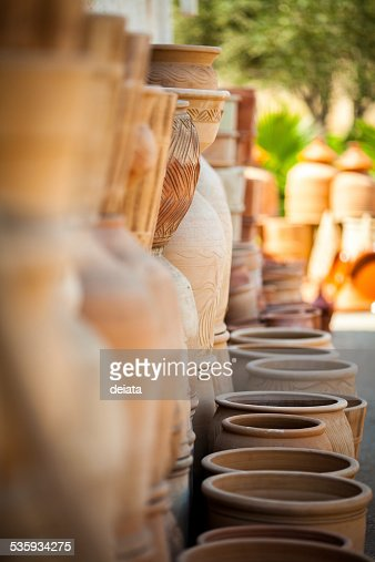 Ceramic pots : Stock Photo