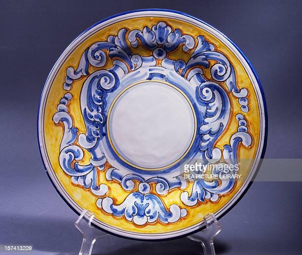 Ceramic serving platter ceramic Artesania Talaverana manufacture Talavera de la Reina CastileLa Mancha Spain 20th century