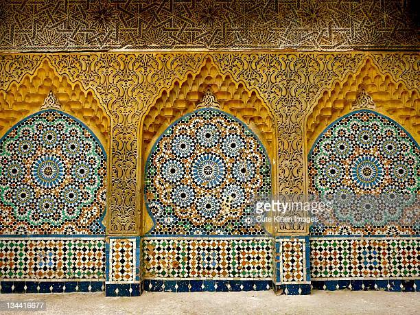 Ceramic tiled mosaic decorations