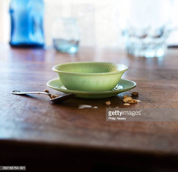 Cereal bowl with spoon on table