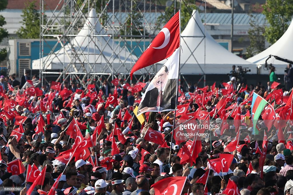 Ceremonial Ottoman Janissary Band perform during the celebrations of the 563rd anniversary of Istanbuls conquest by Turks at Yenikapi Event Area in Istanbul, Turkey on May 29, 2016. On May 29, 1453, Ottoman Sultan Mehmed II (Mehmet the Conqueror) conquered Istanbul, then called Constantinople, from where the Byzantines had ruled the Eastern Roman Empire for more than 1,000 years. The conquest transformed the city, once the heart of the Byzantine realm, into the capital of the new Ottoman Empire.
