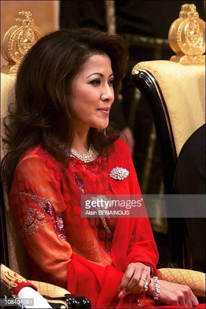 Ceremony at Istana Palace in Bandar Seri Begawan Brunei Darussalam on July 15 2005