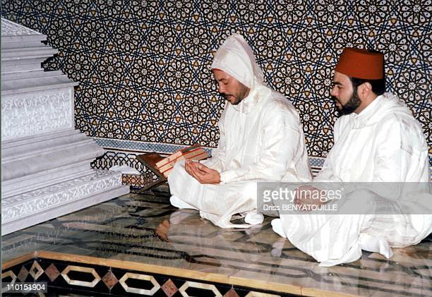 Ceremony held forty days after the funeral of king Hassan II in Rabat Morocco on August 30 1999 King Mohammad VI and price Moulay Rachid